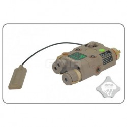 Fma An/Peq-15 Laser Verde Con Linterna Upgrade Version Tan Tb0069