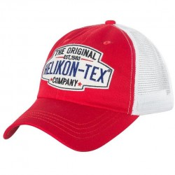Trucker Logo Cap - Cotton Twill - Red/White