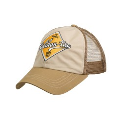 Trucker Logo Cap - Cotton Ripstop - Khaki / Brown B
