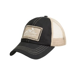 Trucker Logo Cap - Cotton Twill - Black / Khaki