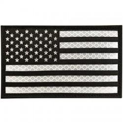 Parche Bandera USA infrarrojo IR Blanco y Negro