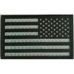 Parche invertido Bandera USA infrarrojo IR Blanco y Negro