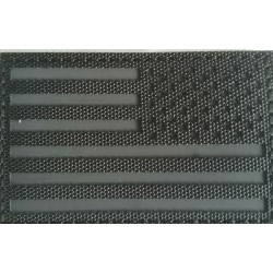 Parche Invertido Bandera USA infrarrojo IR Negro