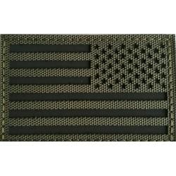 Parche Invertido Bandera USA infrarrojo IR Verde