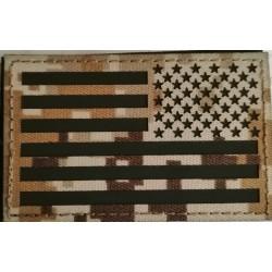 Parche Invertido Bandera USA infrarrojo IR AOR1