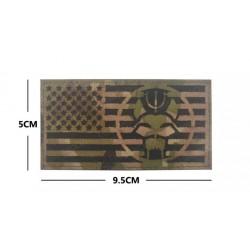 Parche Bandera Americana Seal Team Bravo - Multicam