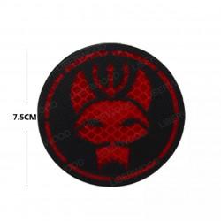 Parche Negro y Rojo Equipo Bravo - Seal Team