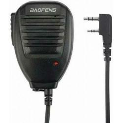 Micrófono con altavoz para banda dual con ptt kenwood
